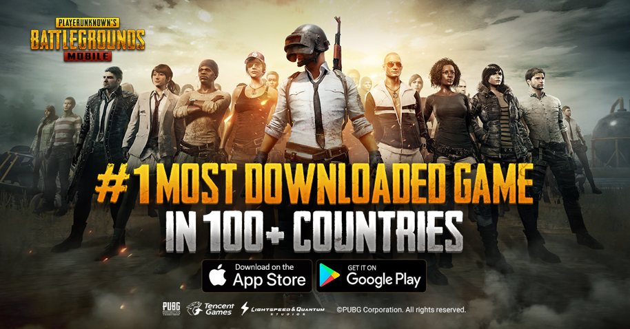 PUBG Mobile #1 Most Downloaded Game in 100 Countries