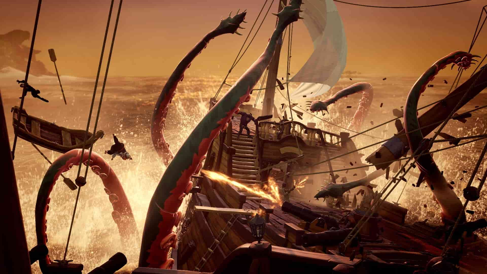 Sea of Thieves Kraken Is Finally Spotted, Watch the Battle Here