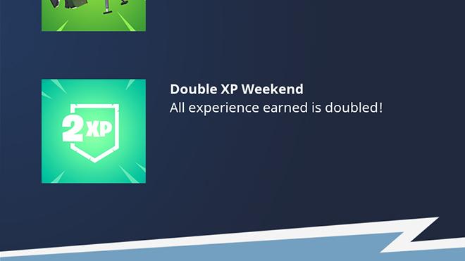 Fortnite Double XP