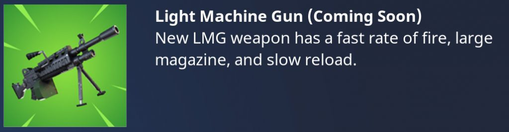 Fortnite Light Machine Gun