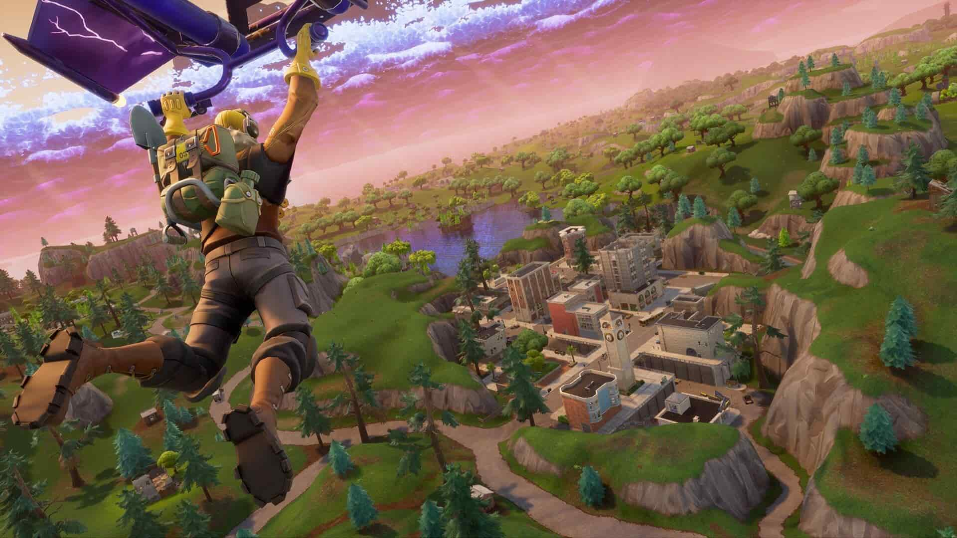 Fortnite Tilted Towers Comet