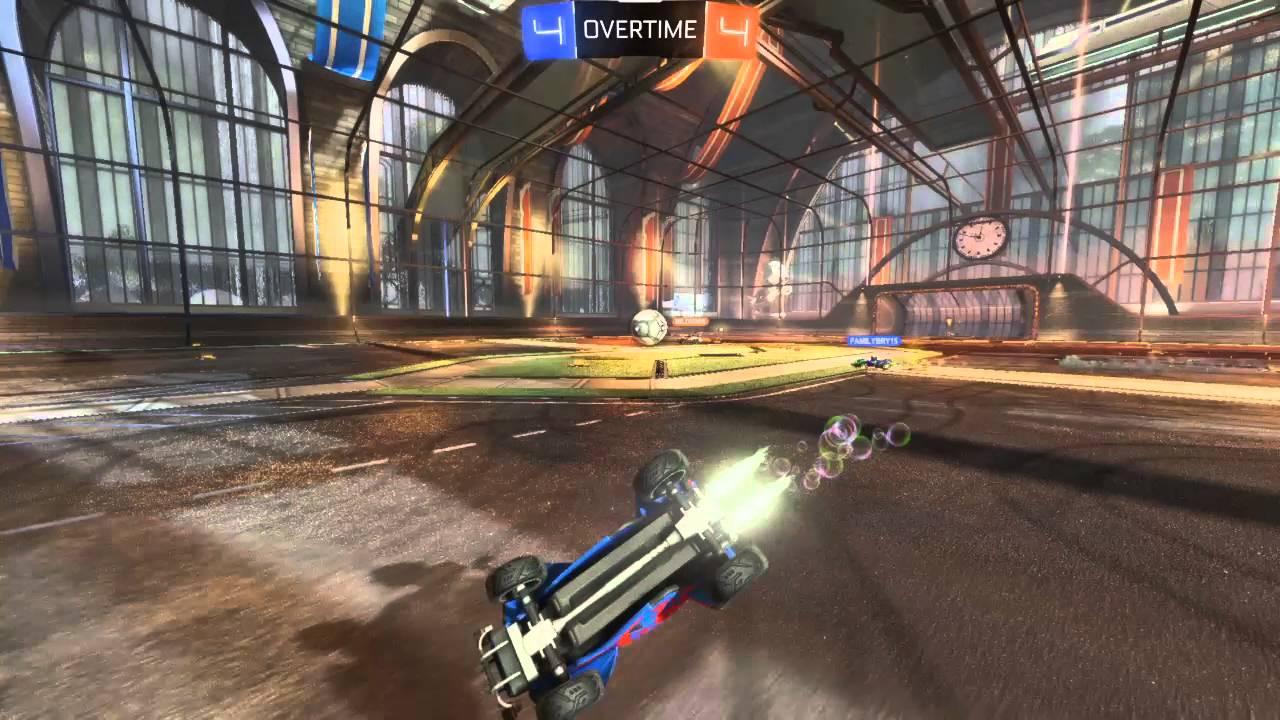 rocket league half flip