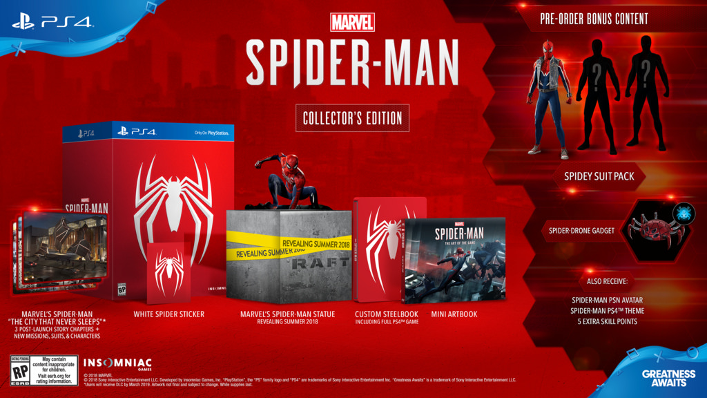 spiderman ps4 release date, Marvel's Spider-Man Swings to PS4 This September 7, Collector's and Digital Deluxe Versions Revealed, MP1st, MP1st