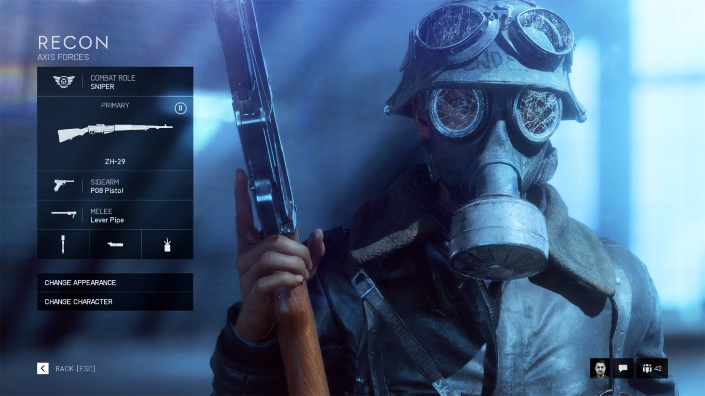 battlefield 5 sniper class