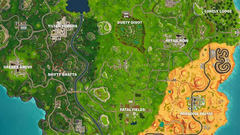 fortnite map changes over time