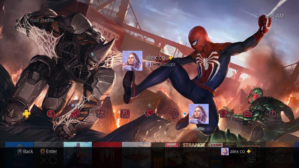 free spider man ps4 theme