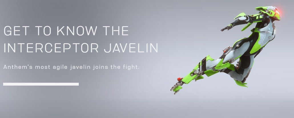 Here Are the Anthem Javelin Types Players Can Use at Launch, Skills and Abilities Detailed