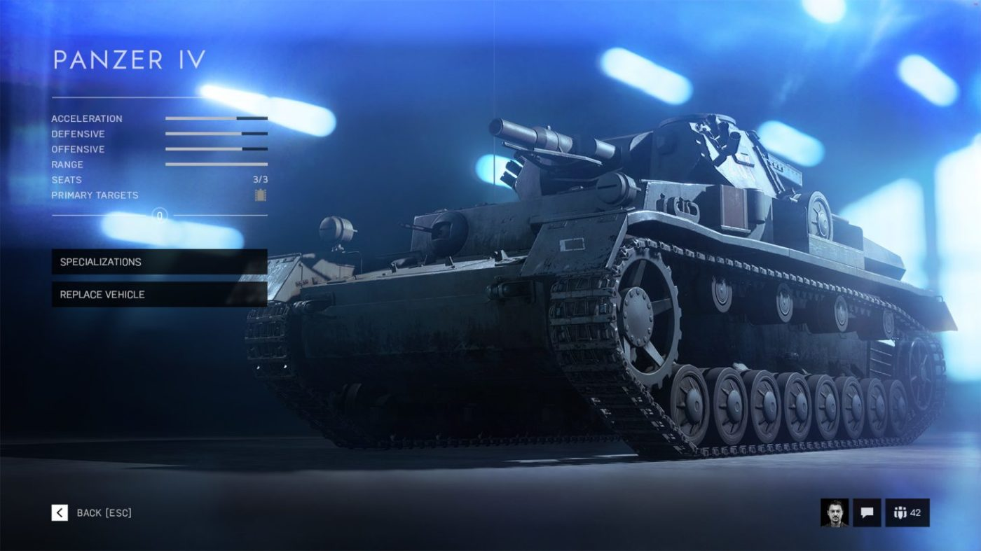 battlefield 5 vehicle specialization