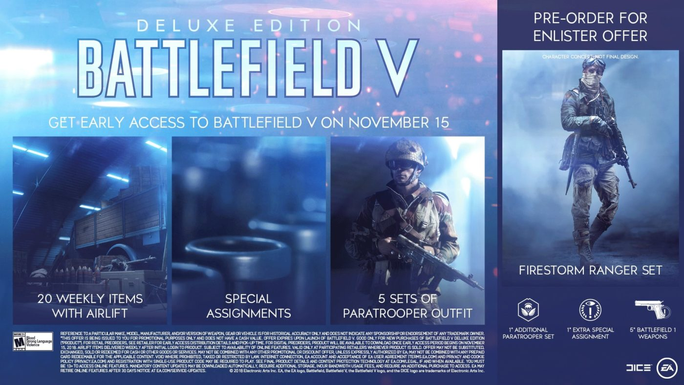 """Battlefield 5 Soldier, EA Reveals """"Guide"""" for Battlefield V Pre-Order & Game Edition Extras, Here's How to Get Every Soldier Set, MP1st, MP1st"""