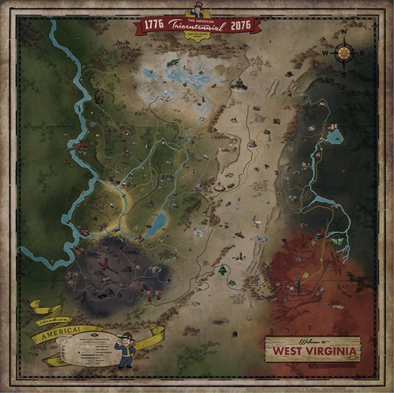 Check Out the Full Fallout 76 Map Right Now