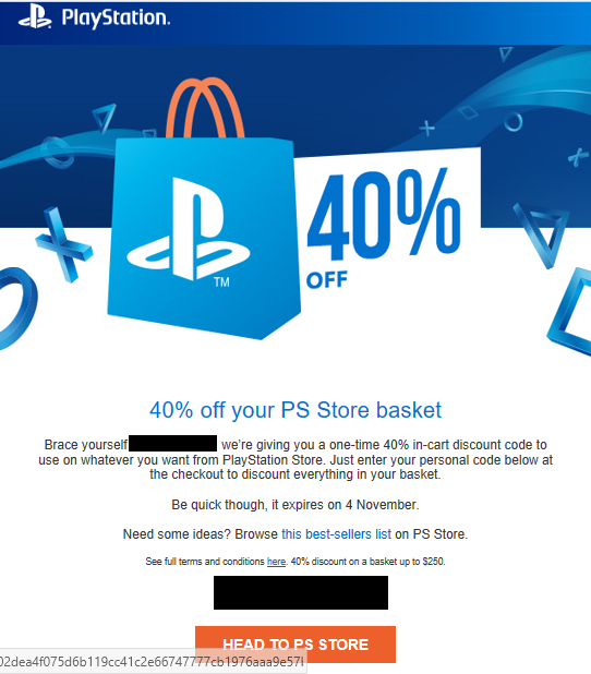 PSN Discount Code for 40% Off Being Sent Out by Sony