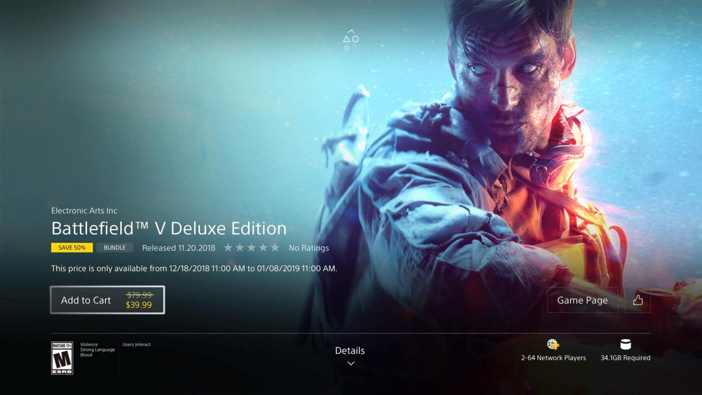 Battlefield 5 PS4 Price, Buying Battlefield V Standalone Game + Deluxe Edition Upgrade Is Cheaper Than Buying It Bundled, MP1st, MP1st