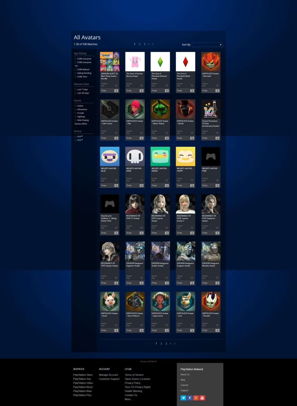 Here's the Complete 20-Page List of Free PS4 Avatars and How to Get