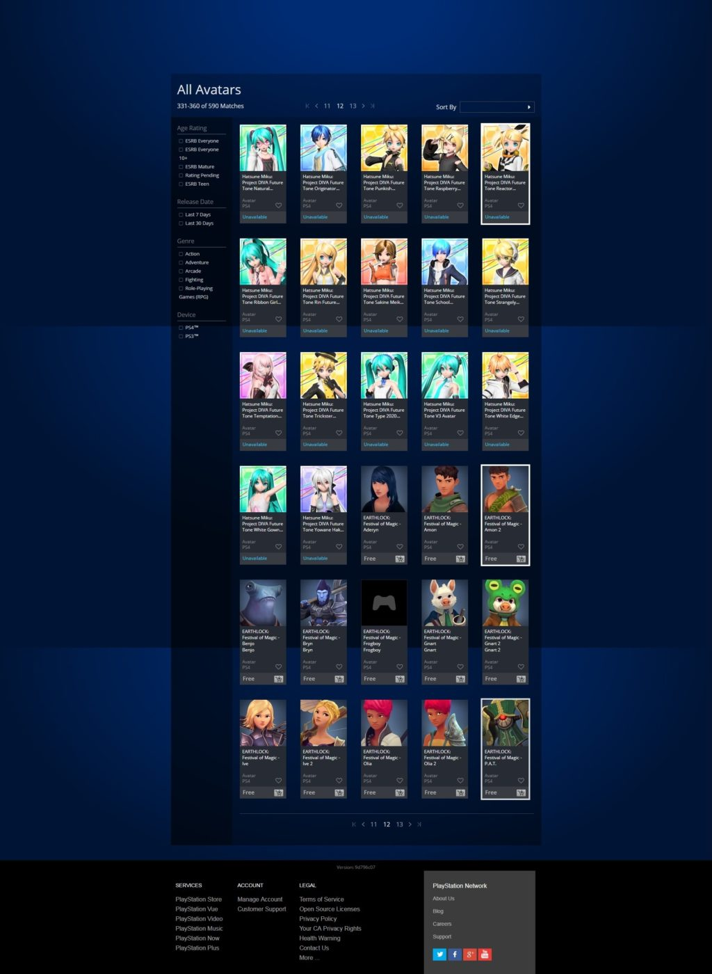 Here's the Complete 20-Page List of Free PS4 Avatars and