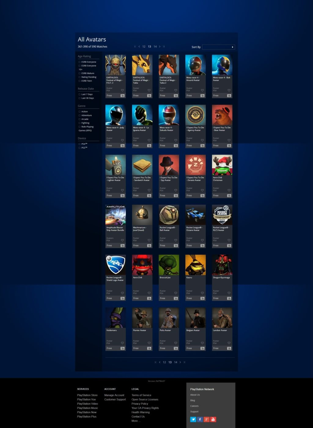 Here's the Complete 20-Page List of Free PS4 Avatars and How