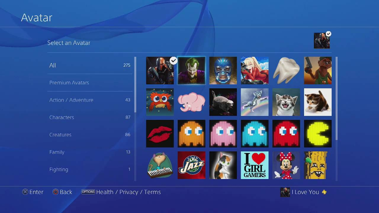 free ps4 avatars