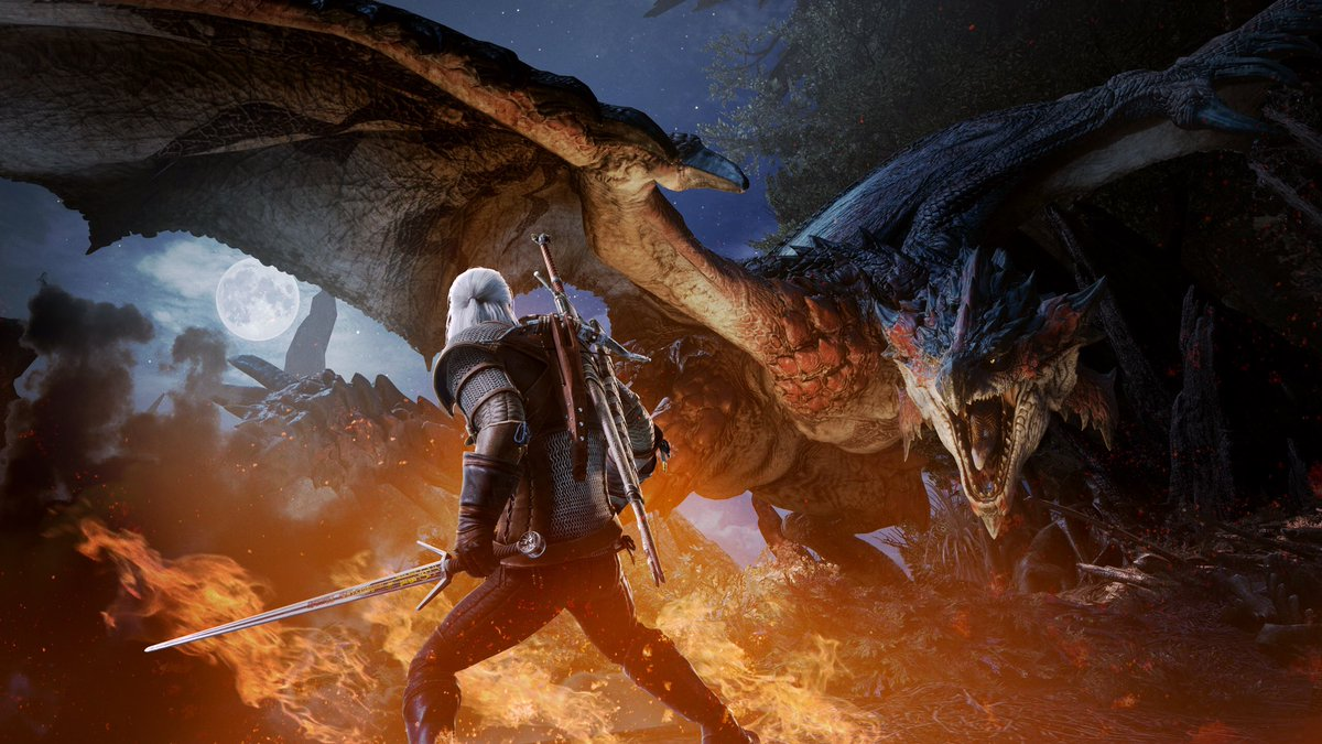 The Witcher Geralt Comes To Monster Hunter