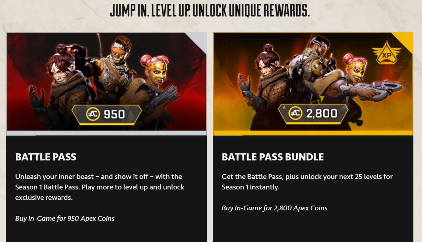Apex Legends Battle Pass launches tomorrow with Season 1: Wild Frontier