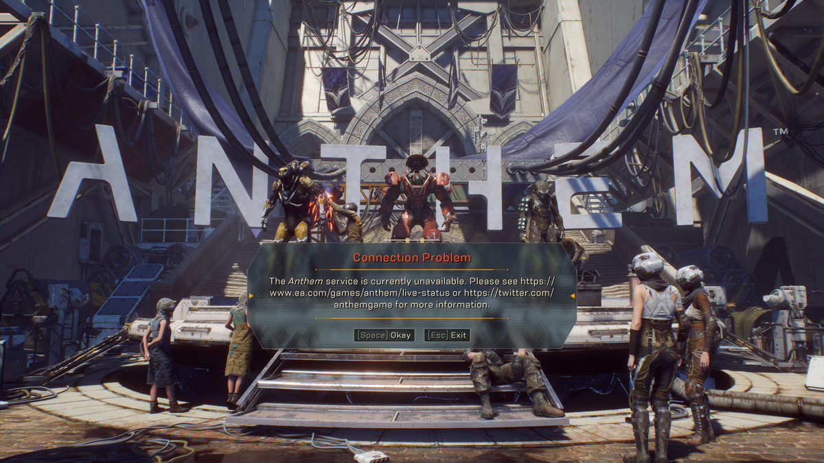 Anthem Connection Problem Plaguing Players and No One Knows