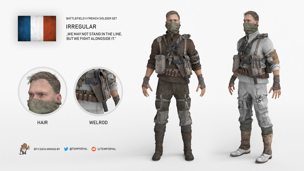 Here 39 s the last unreleased battlefield 5 french soldier - Battlefield 1 french soldier ...