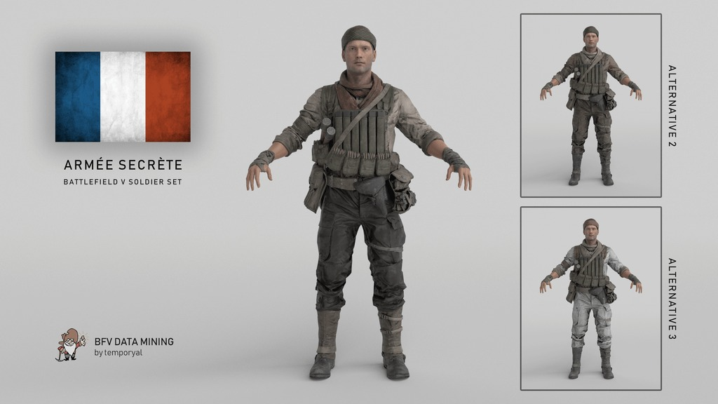 Battlefield 5 French Soldier Skin Sets Unearthed via Game Files