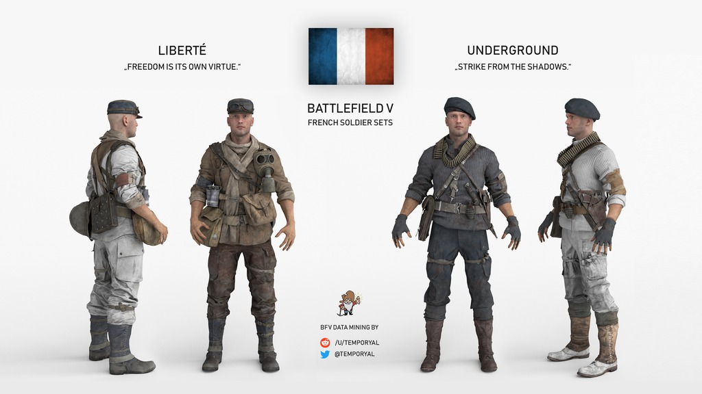 Here are more leaked battlefield 5 french soldier skins - Battlefield 1 french soldier ...