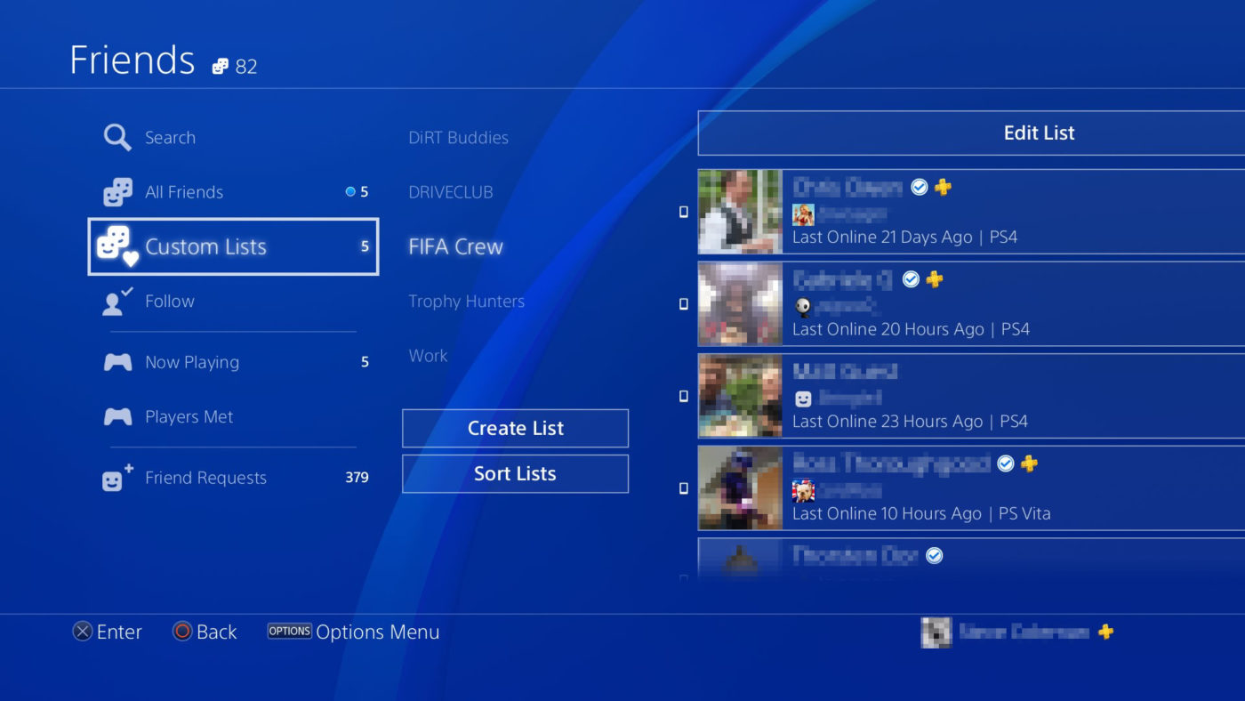 Users Reporting PS4 Friends List Issues After Yesterday's