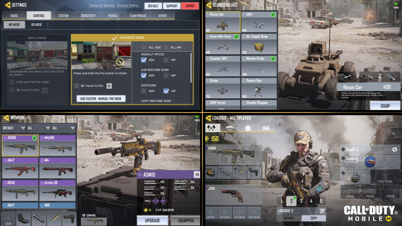 Check out the HUD and settings for COD Mobile