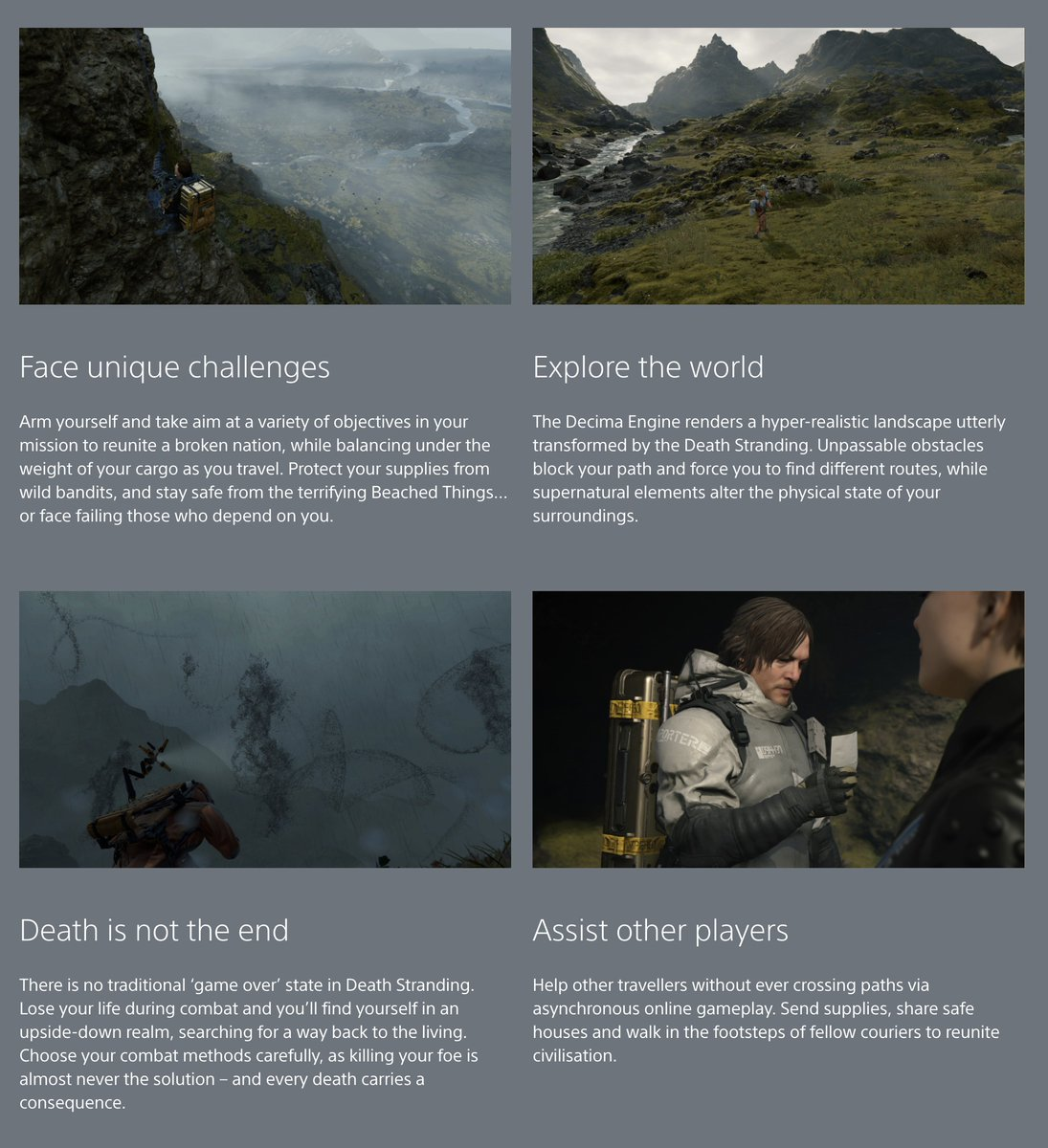 """death stranding multiplayer, Death Stranding Multiplayer to Offer """"Asynchronous"""" Gameplay, No Player Will Ever Cross Paths, MP1st, MP1st"""