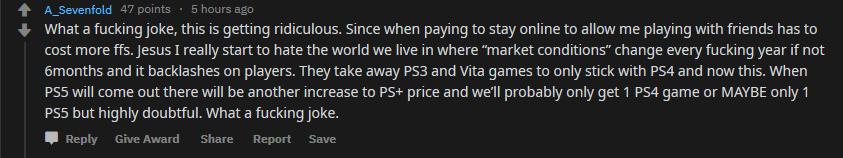 PS Plus Price increase