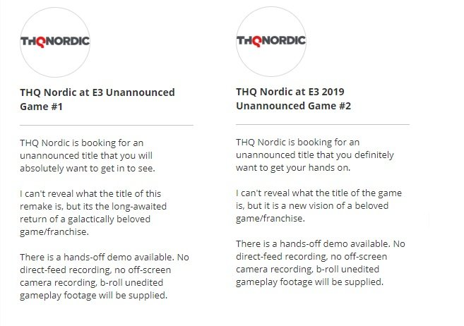 """thq nordic unannounced games, THQ Nordic Unannounced Games Planned at E3 2019 for """"Beloved Franchises"""", MP1st, MP1st"""