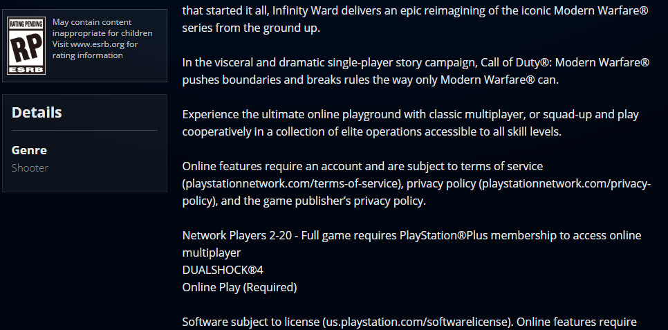 modern warfare multiplayer, Call of Duty: Modern Warfare Multiplayer to Support Up to 20 Players, MP1st, MP1st