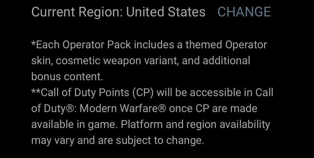 Call of Duty: Modern Warfare punkty preimum