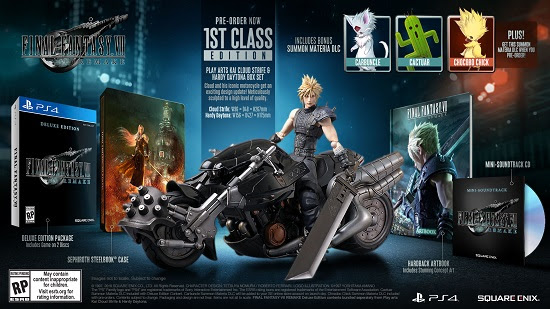 final fantasy 7 remake different editions, Final Fantasy 7 Remake Different Editions Revealed, Here's What's in the 1st Class Edition, MP1st, MP1st