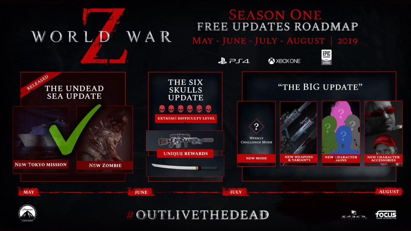 world war z upcoming update, World War Z Upcoming Update Set for Next Week, New Roadmap Released, MP1st, MP1st