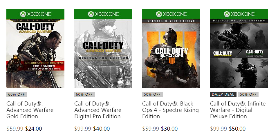 xbox store call of duty sale, Xbox Store Call of Duty Sale On-Going Now, Modern Warfare Trilogy, Black Ops Series and DLC Discounted, MP1st, MP1st