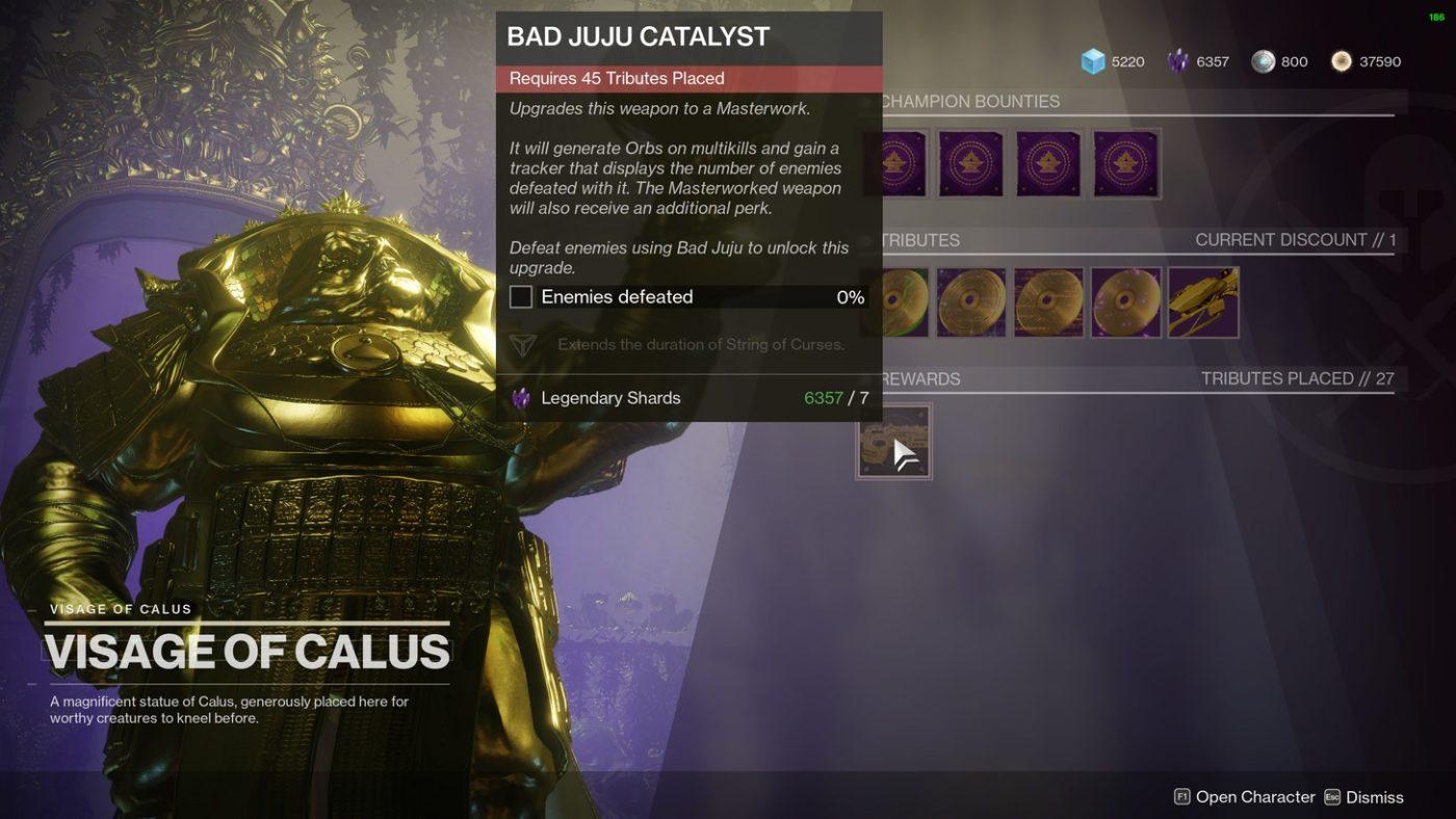 Destiny 2 Bad Juju Catalyst