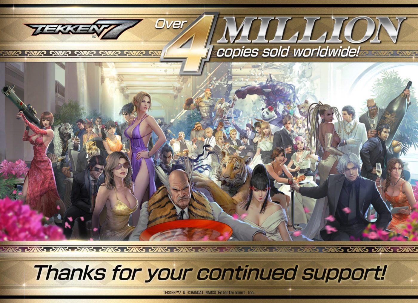 Bandai-Namco-Reports-Tekken-7-Player-Count-has-Surpassed-4-Million