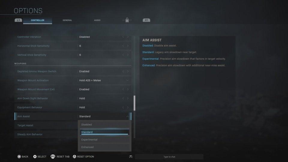 Call of Duty: Modern Warfare Aim Assist Settings to Be 4