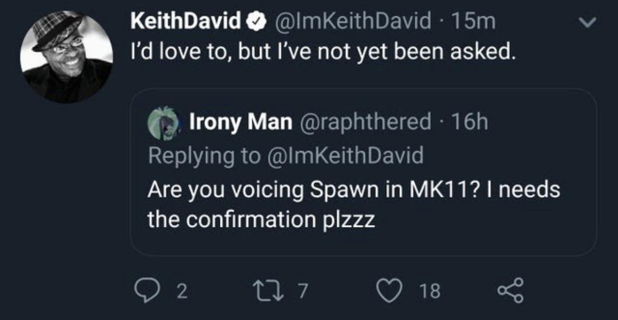 mortal kombat 11 spawn, Mortal Kombat 11 Spawn Will Be Voiced by Keith David, Arnold Schwarzenegger Won't Voice Terminator, MP1st, MP1st