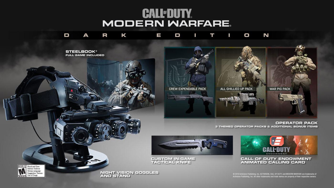 Modern Warfare Dark Edition, Call of Duty: Modern Warfare Dark Edition Now Available for Pre-Order, Costs $200, MP1st, MP1st