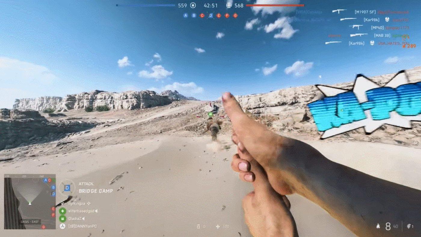 battlefield 5 finger gun gameplay