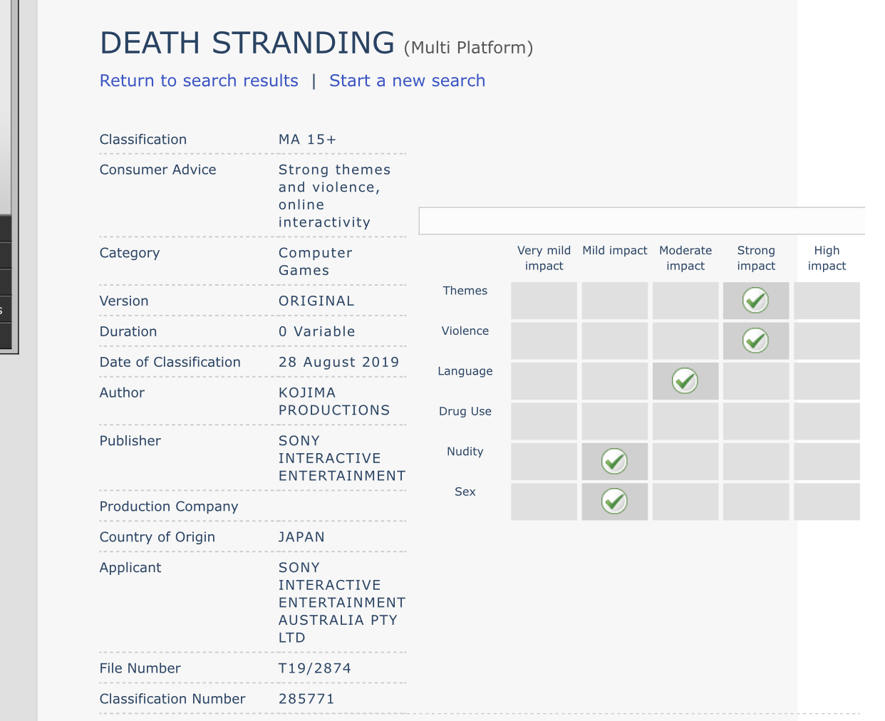 Death Stranding Difficulty Options, Death Stranding Difficulty Options Confirmed, Game Receives Australia Rating, MP1st, MP1st