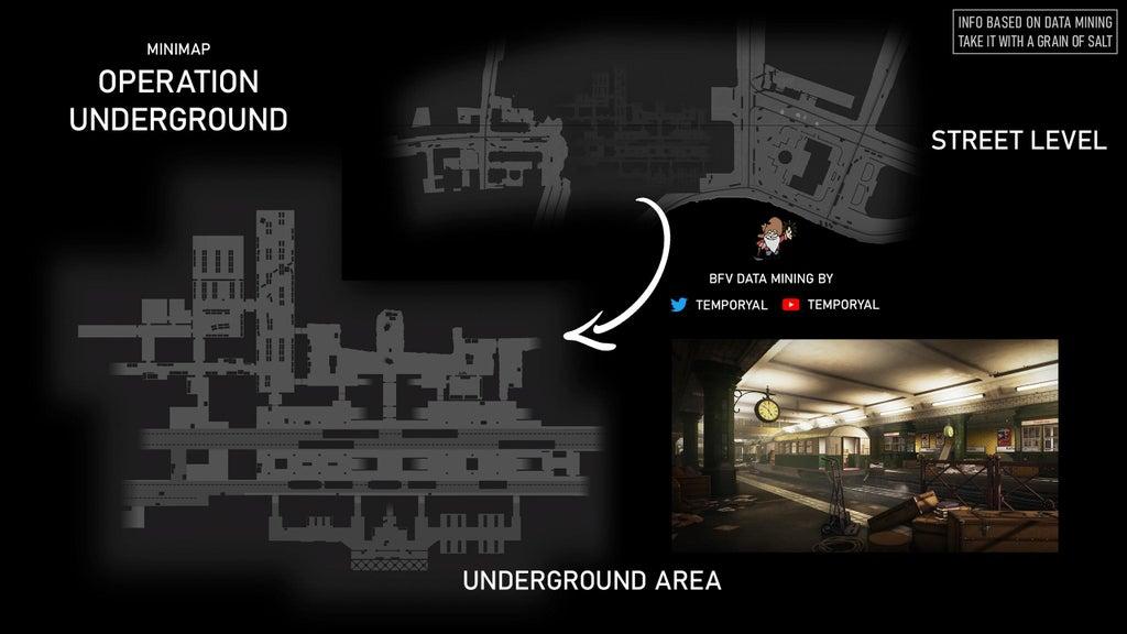 battlefield 5 operation underground minimap, Battlefield 5 Operation Underground Minimap (Op Metro Remake) Leaked, MP1st, MP1st