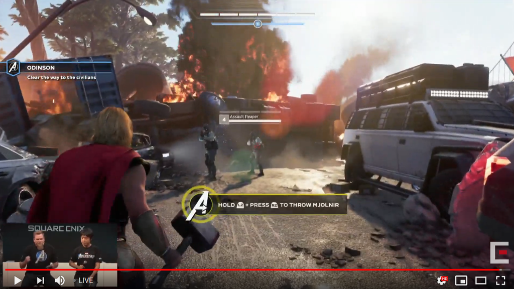 avengers game hud, Marvel's Avengers HUD Shown Off, Enemy Health Bars and Damage Counters Confirmed, MP1st, MP1st