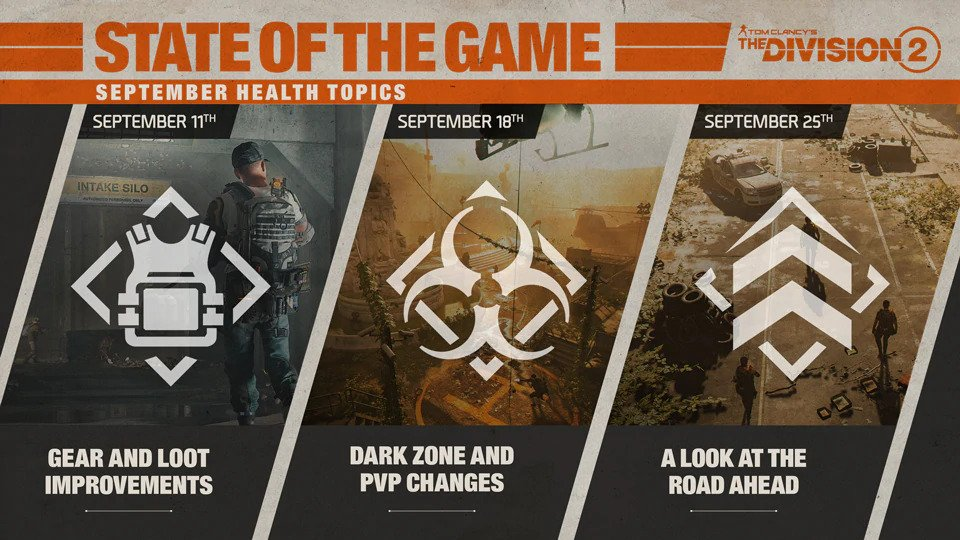 the diviison 2 state of the game schedule, The Division 2 State of the Game Schedule and Topics to Be Discussed Revealed, MP1st, MP1st