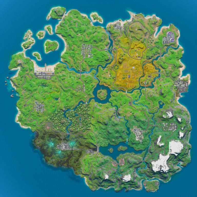 fortnite chapter 2 map, Here's a Complete Look at the Fortnite Chapter 2 Map, MP1st, MP1st
