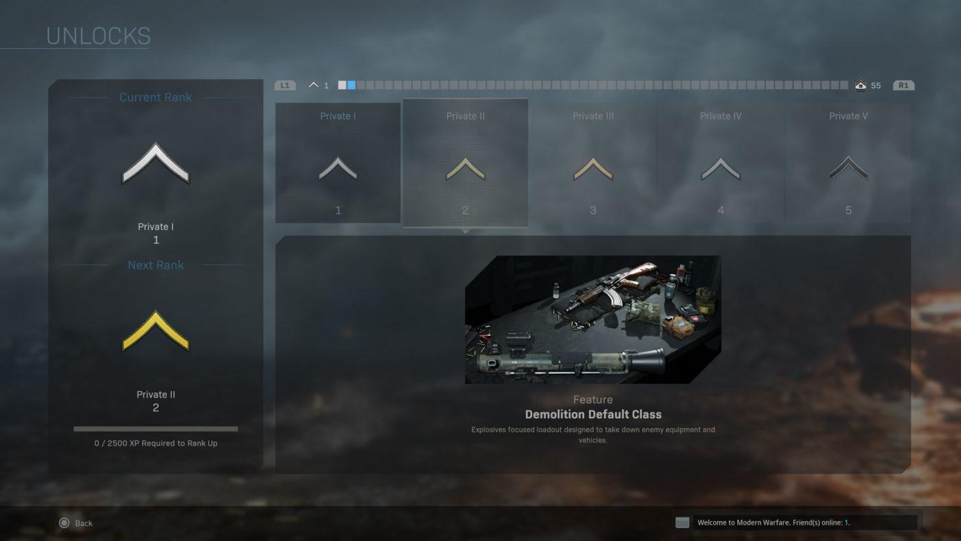 modern warfare progression system details