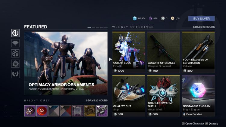 destiny 2 eververse items this week, Here's the Destiny 2 Eververse Items This Week (November 26, 2019), MP1st, MP1st
