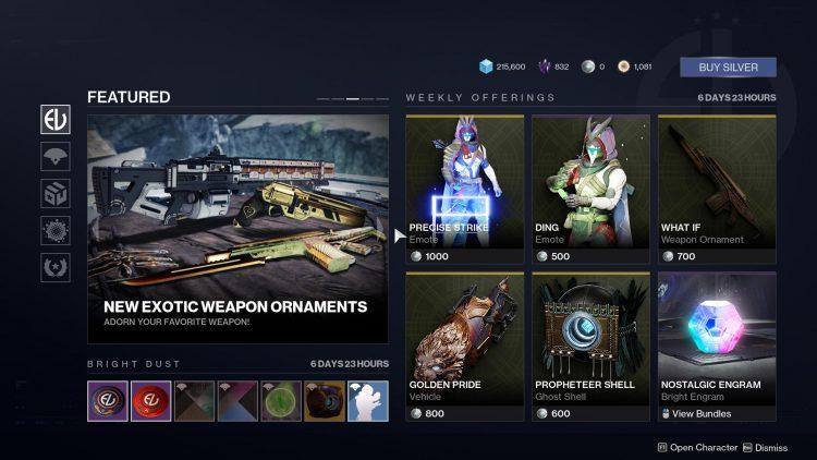 destiny 2 eververse items this week, Destiny 2 Eververse Items for This Week – November 19, MP1st, MP1st